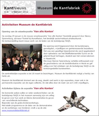 StiQS textielkunst Kantfabriek Horst